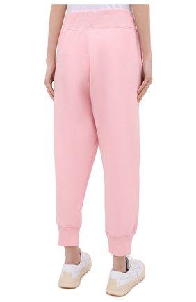 Женские хлопковые джоггеры POLO RALPH LAUREN светло-розового цвета, арт. 211794397   Фото 4