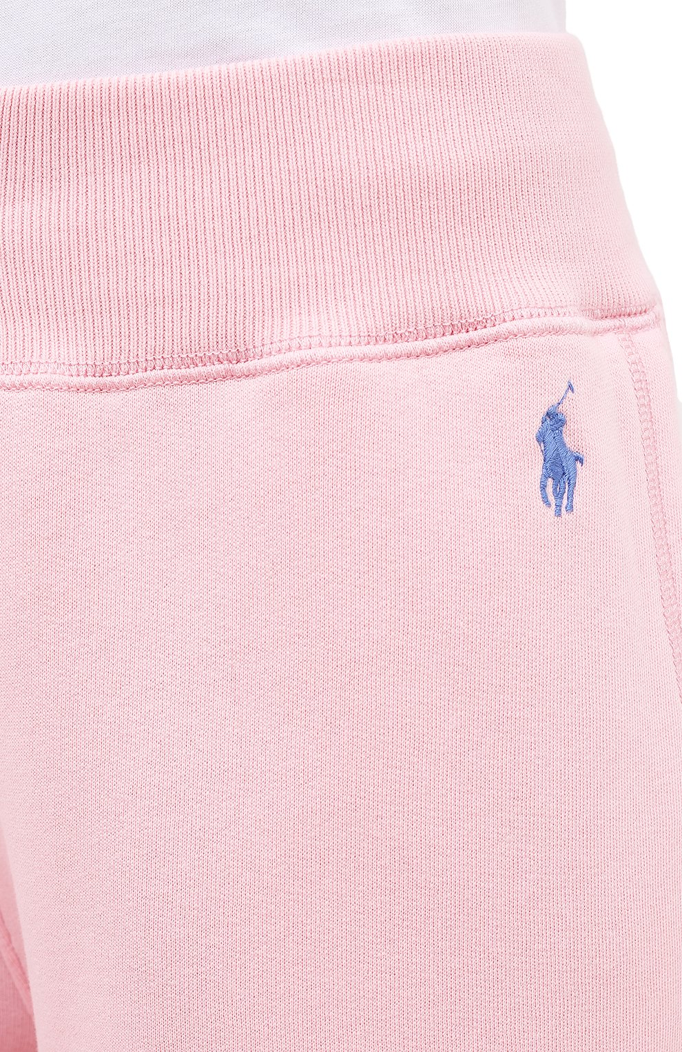 Женские хлопковые джоггеры POLO RALPH LAUREN светло-розового цвета, арт. 211794397   Фото 5