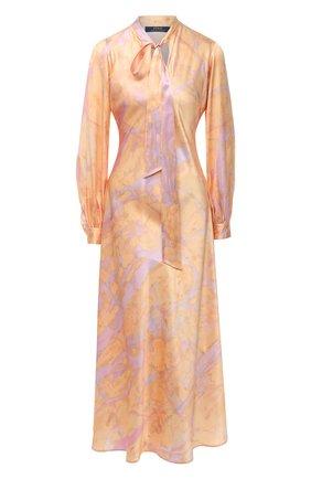 Женское шелковое платье POLO RALPH LAUREN оранжевого цвета, арт. 211800615 | Фото 1