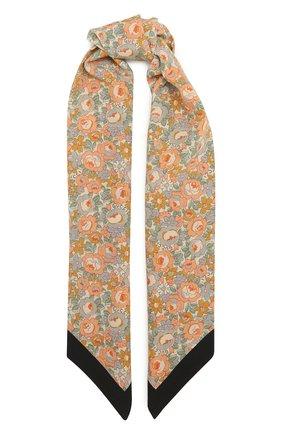 Мужские шелковый шарф GUCCI розового цвета, арт. 642071/3G005 | Фото 1