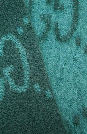 Женский шарф GUCCI бирюзового цвета, арт. 638680/3GF96   Фото 2