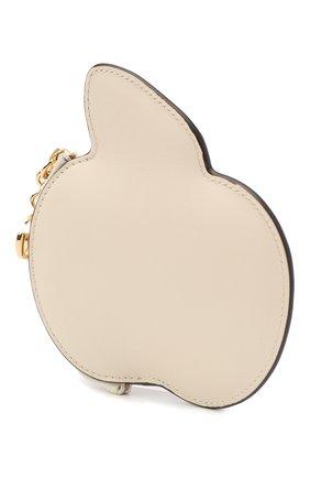 Женская кожаный футляр для ключей GUCCI белого цвета, арт. 624643/0QGAG | Фото 2