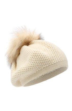 Женская кашемировая шапка INVERNI белого цвета, арт. 4732CMG1 | Фото 1