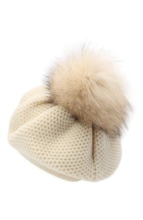 Женская кашемировая шапка INVERNI белого цвета, арт. 4732CMG1 | Фото 2