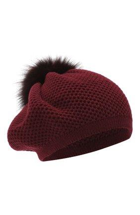 Женский кашемировая шапка INVERNI бордового цвета, арт. 4732CMG1 | Фото 1