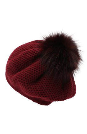 Женский кашемировая шапка INVERNI бордового цвета, арт. 4732CMG1 | Фото 2