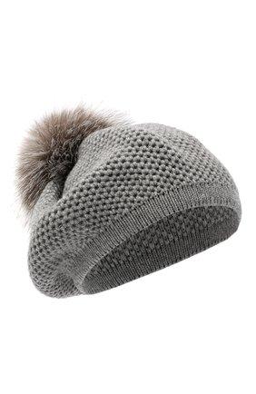 Женский кашемировая шапка INVERNI светло-серого цвета, арт. 4732CMG1   Фото 1