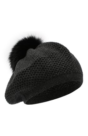 Женский кашемировая шапка INVERNI темно-серого цвета, арт. 4732CMG1   Фото 1