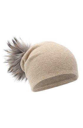 Женская кашемировая шапка INVERNI бежевого цвета, арт. 4943CM   Фото 1
