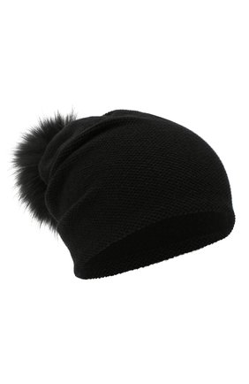 Женская кашемировая шапка INVERNI черного цвета, арт. 4943CM   Фото 1