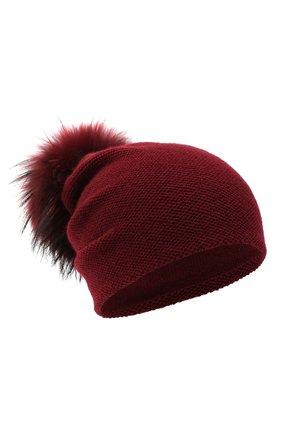 Женский кашемировая шапка INVERNI бордового цвета, арт. 4943CM | Фото 1