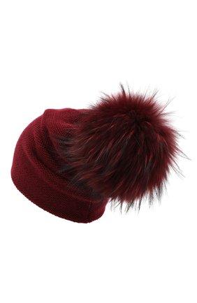 Женский кашемировая шапка INVERNI бордового цвета, арт. 4943CM | Фото 2
