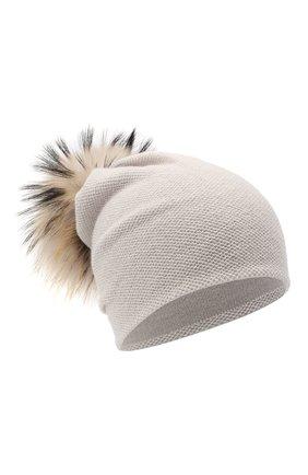 Женский кашемировая шапка INVERNI светло-серого цвета, арт. 4943CM   Фото 1