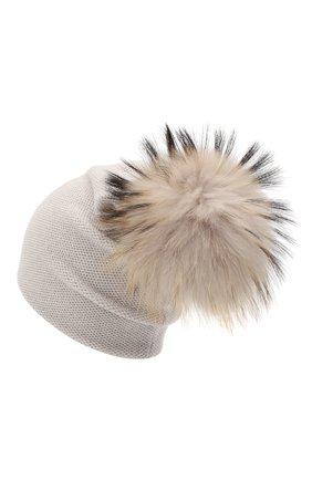 Женский кашемировая шапка INVERNI светло-серого цвета, арт. 4943CM   Фото 2