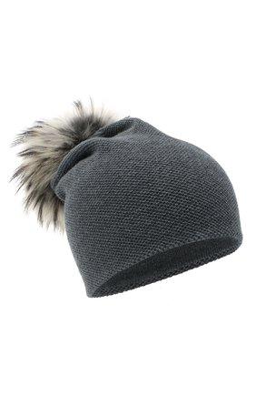 Женская кашемировая шапка INVERNI темно-серого цвета, арт. 4943CM   Фото 1