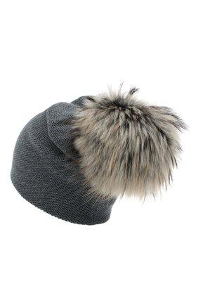 Женская кашемировая шапка INVERNI темно-серого цвета, арт. 4943CM   Фото 2