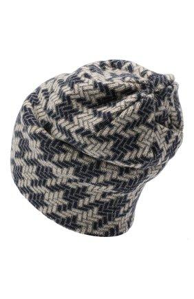 Женская шапка из шерсти и кашемира INVERNI синего цвета, арт. 5077CM   Фото 2