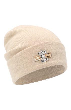 Женская кашемировая шапка INVERNI светло-бежевого цвета, арт. 5118CM   Фото 1
