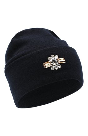 Женская кашемировая шапка INVERNI темно-синего цвета, арт. 5118CM   Фото 1