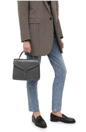 Женская сумка cassandra medium SAINT LAURENT темно-серого цвета, арт. 623931/DND0E | Фото 2
