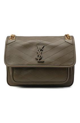 Женская сумка niki medium SAINT LAURENT хаки цвета, арт. 633158/1EL07   Фото 1