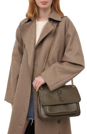 Женская сумка niki medium SAINT LAURENT хаки цвета, арт. 633158/1EL07   Фото 2