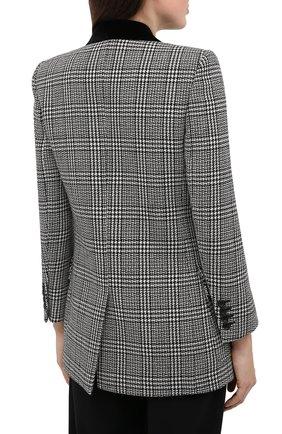 Женский шерстяной жакет SAINT LAURENT серого цвета, арт. 641430/Y7B05 | Фото 4