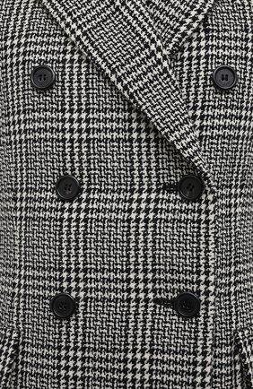 Женский шерстяной жакет SAINT LAURENT серого цвета, арт. 641430/Y7B05 | Фото 5
