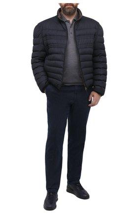 Мужское шерстяное поло PAUL&SHARK серого цвета, арт. C0P1050/FLV/3XL-6XL | Фото 2