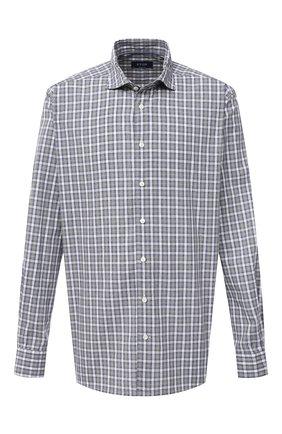 Мужская рубашка изо льна и хлопка ETON зеленого цвета, арт. 1000 01524   Фото 1