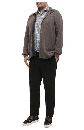 Мужская рубашка изо льна и хлопка ETON зеленого цвета, арт. 1000 01524   Фото 2