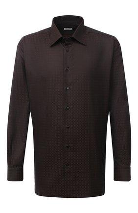 Мужская хлопковая сорочка ZILLI коричневого цвета, арт. MFU-00401-01044/0001/45-49 | Фото 1