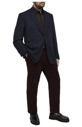 Мужская хлопковая сорочка ZILLI коричневого цвета, арт. MFU-00401-01044/0001/45-49 | Фото 2