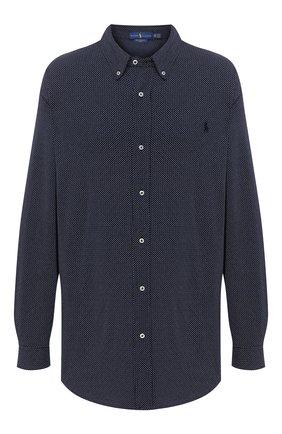 Мужская хлопковая рубашка POLO RALPH LAUREN синего цвета, арт. 711798631/PRL BS | Фото 1