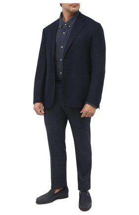 Мужская хлопковая рубашка POLO RALPH LAUREN синего цвета, арт. 711798631/PRL BS | Фото 2