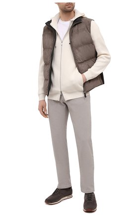 Мужской брюки из хлопка и кашемира KITON бежевого цвета, арт. UPNJSJ02T47   Фото 2