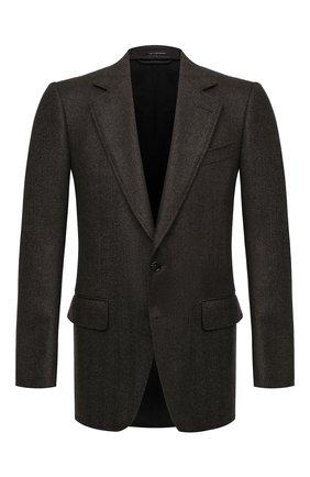 Мужской шерстяной пиджак TOM FORD коричневого цвета, арт. 856R02/1IMU40 | Фото 1