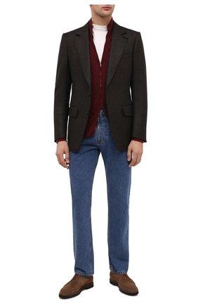 Мужской шерстяной пиджак TOM FORD коричневого цвета, арт. 856R02/1IMU40 | Фото 2