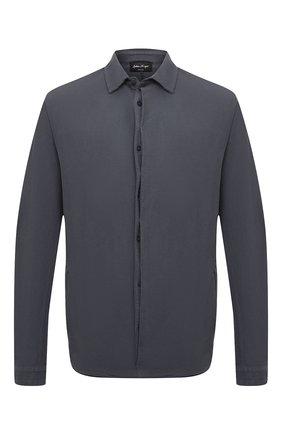 Мужская хлопковая рубашка ANDREA YA'AQOV темно-серого цвета, арт. 21MFLA13 | Фото 1