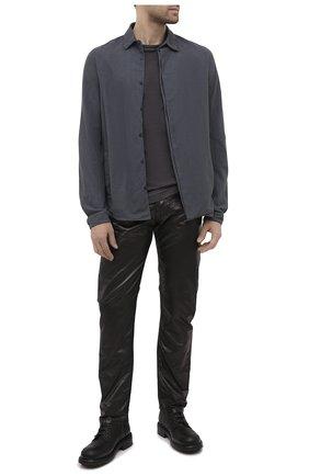 Мужская хлопковая рубашка ANDREA YA'AQOV темно-серого цвета, арт. 21MFLA13 | Фото 2