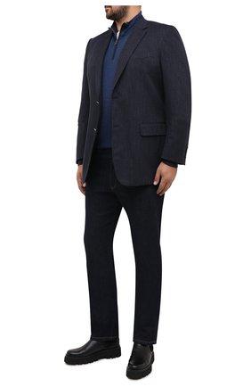 Мужской хлопковый пиджак CANALI темно-синего цвета, арт. 11280/AV02733/60-64   Фото 2
