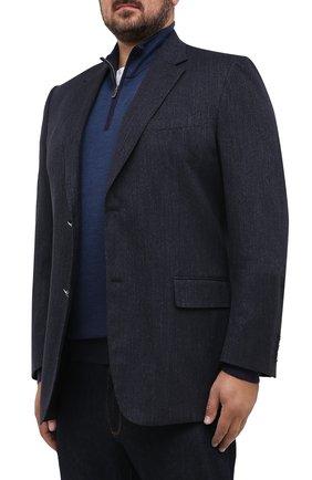 Мужской хлопковый пиджак CANALI темно-синего цвета, арт. 11280/AV02733/60-64   Фото 3