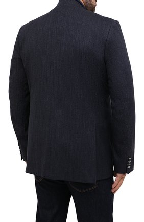 Мужской хлопковый пиджак CANALI темно-синего цвета, арт. 11280/AV02733/60-64   Фото 4