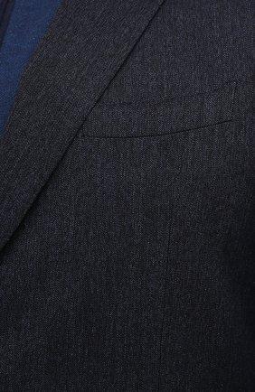 Мужской хлопковый пиджак CANALI темно-синего цвета, арт. 11280/AV02733/60-64   Фото 5