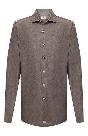 Мужская хлопковая рубашка SONRISA коричневого цвета, арт. IL7/L1080 | Фото 1