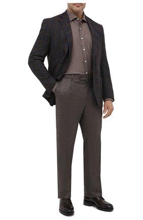 Мужская хлопковая рубашка SONRISA коричневого цвета, арт. IL7/L1080 | Фото 2