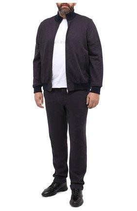 Мужской спортивный костюм из хлопка и кашемира CAPOBIANCO темно-синего цвета, арт. 9MT15.AG00./62-68 | Фото 1