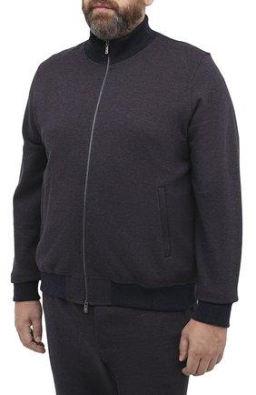 Мужской спортивный костюм из хлопка и кашемира CAPOBIANCO темно-синего цвета, арт. 9MT15.AG00./62-68 | Фото 2