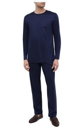 Мужская хлопковая пижама ZIMMERLI темно-синего цвета, арт. 286-95502 | Фото 1