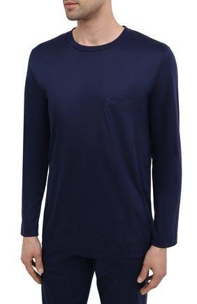 Мужская хлопковая пижама ZIMMERLI темно-синего цвета, арт. 286-95502 | Фото 2